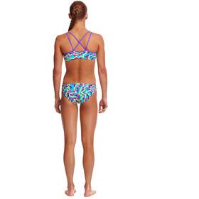 Funkita Bikini 2 Piezas Criss Cross Niñas, mint strips